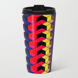 Spectrum Cubes / Pattern #7 Metal Travel Mug