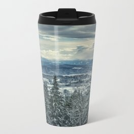 Fraser Valley in the Winter Metal Travel Mug