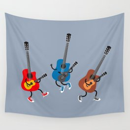 Dancing guitars Wall Tapestry