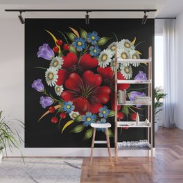 Bouquet Of Flowers Wall Mural