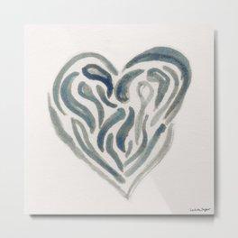 Tearful Heart Metal Print
