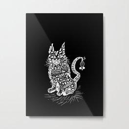 Cat & Mouse Metal Print