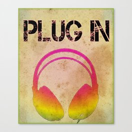 Plug In Music Lovers Canvas Print