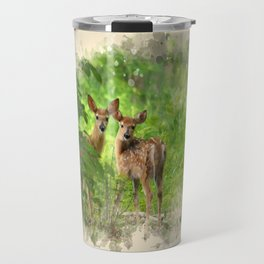 Watercolor Deer Travel Mug