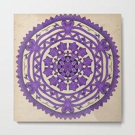 Scissor Cut Out in Purple Metal Print