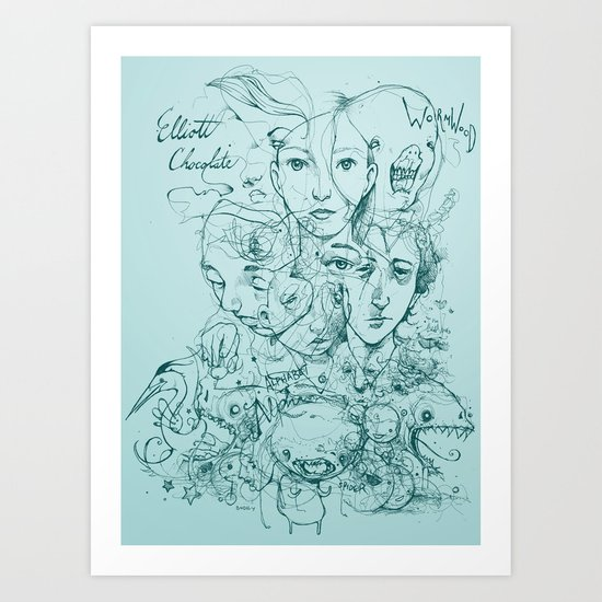 Elliott Chocolate Wormwood Art Print
