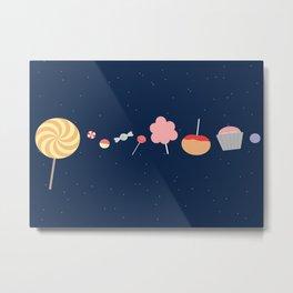 Candy Solar System Metal Print