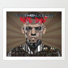 Nate Diaz: The Terminator Art Print