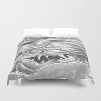 demon Duvet Covers featuring Demon by Tuff Luck Les