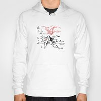 smaug Hoodies featuring Smaug and The Lonely Mountain by FloresArts