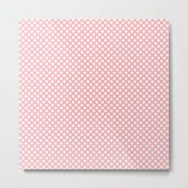Polka Dots Pattern-Pink Metal Print