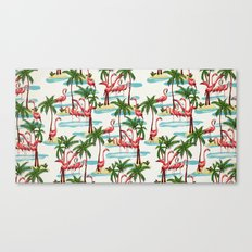 Trump Flamingo Pattern Canvas Print
