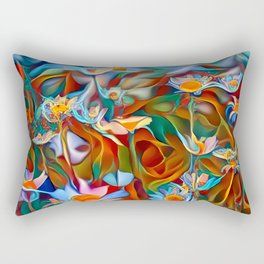Psychedelic Daises Rectangular Pillow