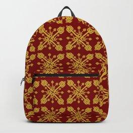 Golden Key Pattern Backpack