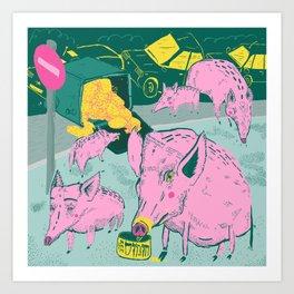 Pigggies Art Print