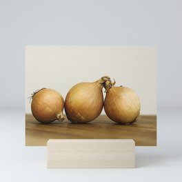 Onion trio Mini Art Print