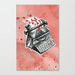 Bleed for the Typewriter Canvas Print