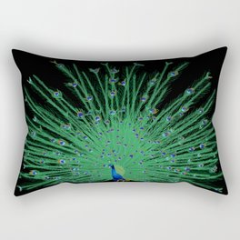 Pop Art Peacock (full color) Rectangular Pillow