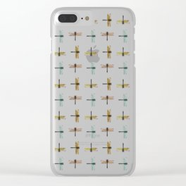 Mystical Dragonfly Graphic Pattern Clear iPhone Case