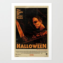 Halloween 1978 - Distressed Art Print