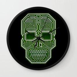 Skull Hacker (isolated version) Wall Clock
