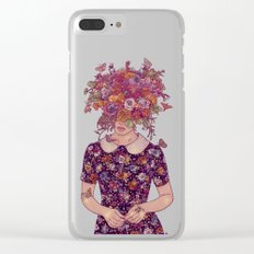 Shy Lady Clear iPhone Case
