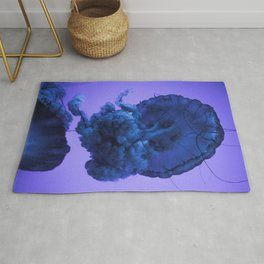 Jellyfish Photography Ocean Art | Classic Blue | Pantone Color of the Year Rug