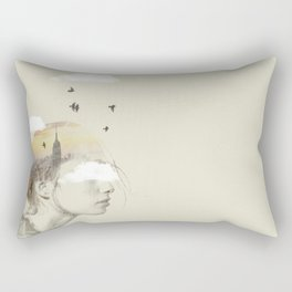 New York City Drifting Rectangular Pillow