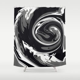 HURRICANE black white and grey swirl abstract design Shower Curtain