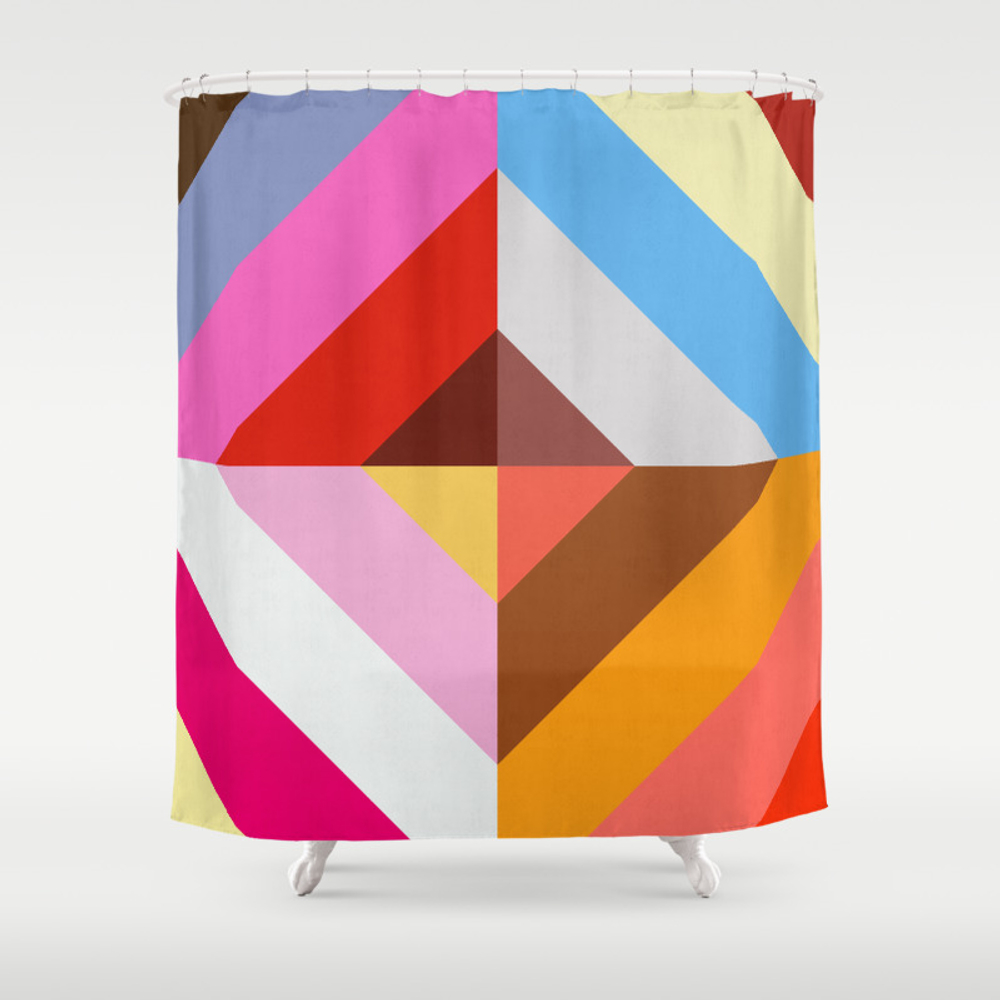 Vibrant And Colorful Pattern Vii Shower Curtain by Printedpattern CTN8473117