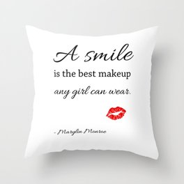 Marylin monroe Quote typography  Throw Pillow