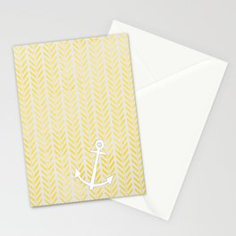 Anchor in Yellow Stationery Cards