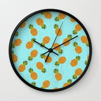 hawaii Wall Clocks featuring Hawaii by Kakel