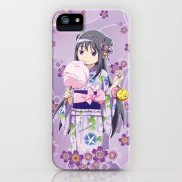 Homura Akemi (Yukata & Cherri Blossom edit) iPhone Case