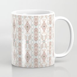 Boho South Western Tribal Geometric Arrows Stripes Desert Pink Turquoise Aqua Coffee Mug