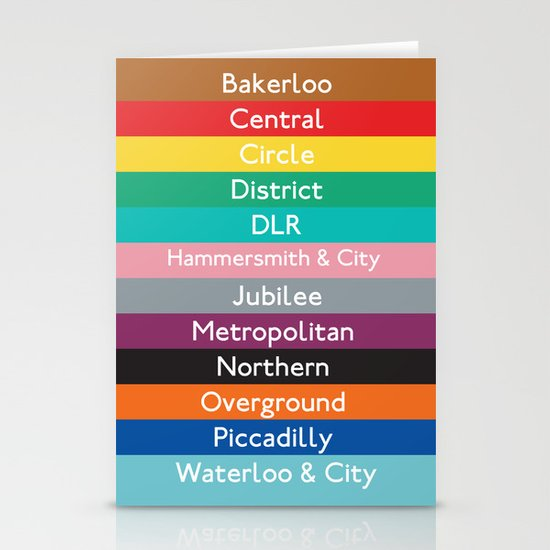 London Underground Stationery Cards