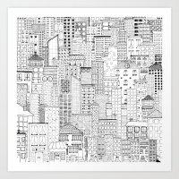 City Doodle (day) Art Print