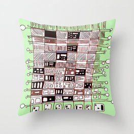 Abstract.African Throw Pillow