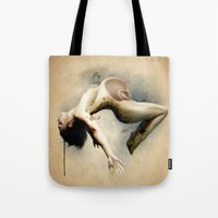 mom Tote Bags featuring Mom by Subcon