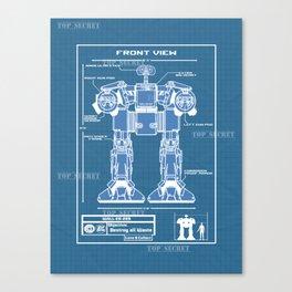 Wall-ED-209 Blue Print Canvas Print