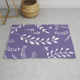 Ultra Violet Leaves Pattern #2 #drawing #decor #art #society6 Rug