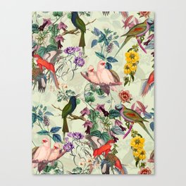 Floral and Birds VIII Canvas Print
