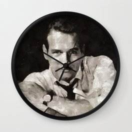 Paul Newman, Hollywood Legend Wall Clock