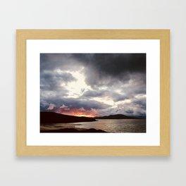 Hebridean Sunset Framed Art Print