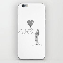 Love (WOMENS) Couples T-Shirt iPhone Skin