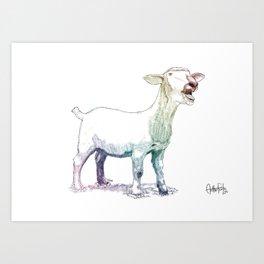 scream goat Art Print