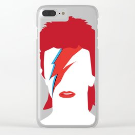 Bowie faceless Clear iPhone Case