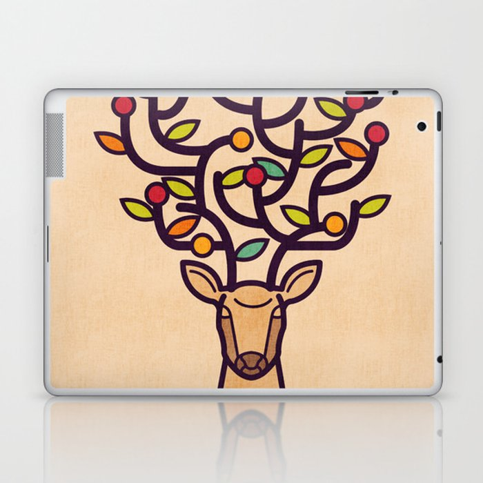 One Happy Deer Laptop & iPad Skin