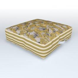 Birds of Prey in Yellow Outdoor Floor Cushion