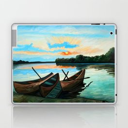 Boats at Sunset Laptop & iPad Skin